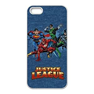 iPhone 5 5s Cell Phone Case White Justice League Heroes SLI_551599