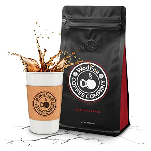 WodFee Coffee Company | FRAN-ETIC Blend | Worlds Strongest Ground Coffee with Added Caffeine & KETO Friendly | Very Potent Formula | 12 oz Bag (6 Ounce Formula Bag)