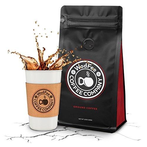 WodFee Coffee Company | Fran-ETIC Blend | Worlds Strongest Ground Coffee with Added Caffeine & Keto Friendly | Very Potent Formula | 12 oz Bag ()
