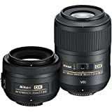 nikon 35 mm kit - Nikon Macro and Portrait Lens Kit with AF-S DX NIKKOR 35mm f/1.8G Fixed Zoom Lens with Auto-Focus and AF-S DX Micro NIKKOR 85mm f/3.5G ED VR Fixed Zoom Lens with Auto-Focus for Nikon DSLR Cameras