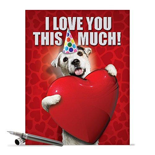 Big Dog Card For Happy Birthday Celebrations (8.5