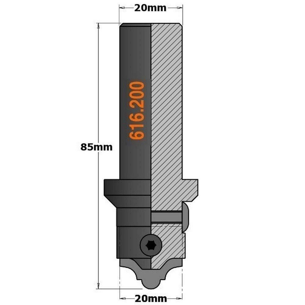 CMT Orange Tools 616,011-Lama profilata in mdf, fragola 616,200