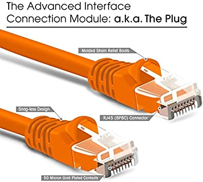 Cables 0.5FT 15cm 20cm Short CAT6 Round UTP Ethernet Network LAN Cable RJ45 Connector 8P8C Patch Cord for Computer Rouder 5pcs//lot Cable Length: 0 Point 5 FT, Color: Green