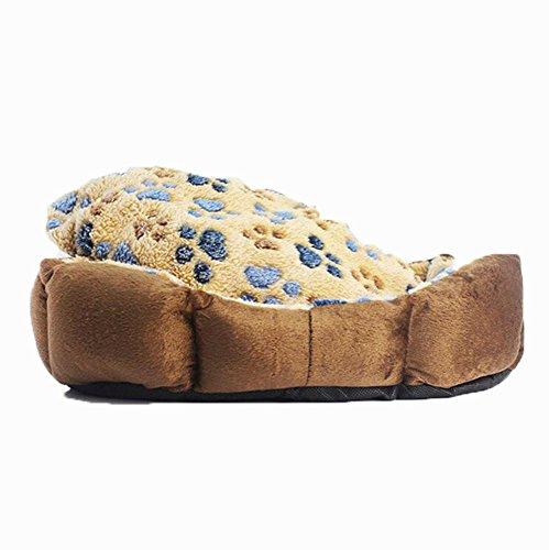 Colored Luxury Crate Mat - Weiwei Dog Bed Five-Colored Footprints pet Litter Dog Litter nest Teddy Kennel Dog Mat Pet Supplies 4032cm
