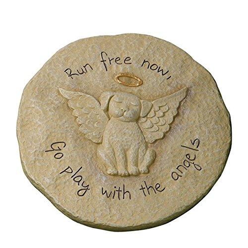 Engraved Sculpted Cement Bereavement Outdoor Sentiment Stone (Dog)