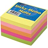 """Tiger Sticky Memo Notes Neon Block Cube Pad 3x3"""" 450 Sheets"""