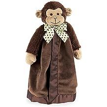 "Bearington Baby Giggles Snuggler, Plush Monkey Security Blanket, Lovey (Brown) 15"""