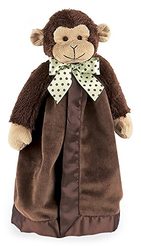 Gift Monkey Unique (Bearington Baby Giggles Snuggler, Brown Monkey Plush Stuffed Animal Security Blanket, Lovey 15