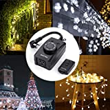BESTTEN Remote Control Outdoor Outlet with Dusk to