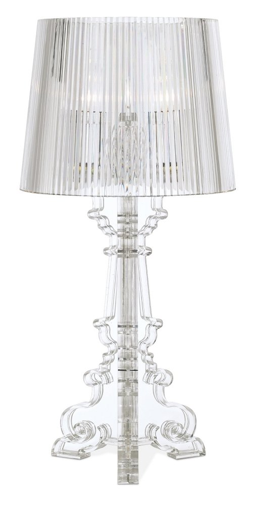 Baroque clear acrylic 20 high accent table lamp amazon aloadofball Image collections
