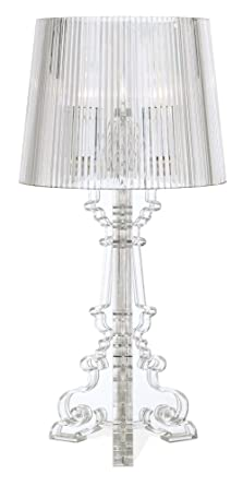 Baroque Clear Acrylic 20u0026quot; High Accent Table Lamp