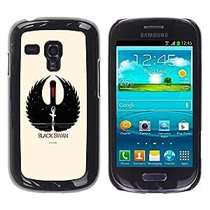 Be Good Phone Accessory // Dura Cáscara cubierta Protectora Caso Carcasa Funda de Protección para Samsung Galaxy S3 MINI NOT REGULAR! I8190 I8190N // Black Swan