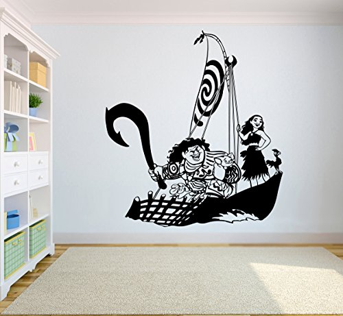 All Heroes Decal Moana Wall Vinyl Decal Home Decor Applique Kid Room Boys Girls Bedroom Graphic moana8