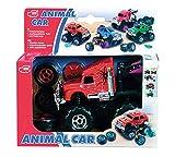 Dickie Animal Car, 12 cm W/ Exchangable Big Wheels, Multi Color