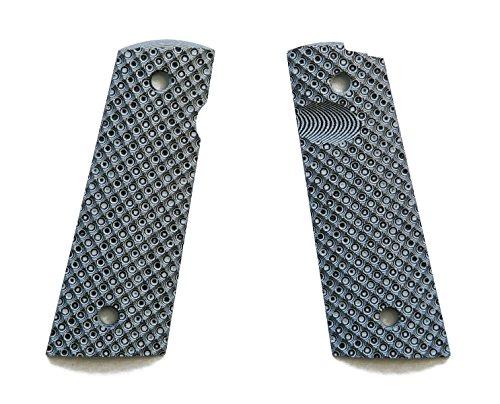 E Gun Grips H1M-J7M-4 G10 Tactical Pistol Grips with Magwell Cut for Full Size 1911 Handguns, Chess Match