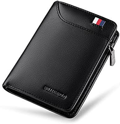 Men Leather Small ID Credit Card Business Slim Wallet Coin Holder Pocket Case