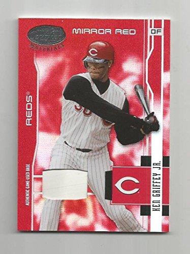 Baseball MLB 2003 Donruss Leaf Certified Materials Game used Base #46 Ken Griffey Jr NM MEM 242/25 from Leaf Certified Materials Game used Base