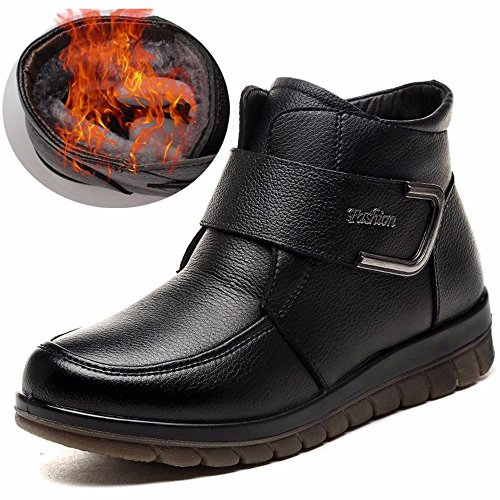 HXVU56546 Neue Winter Fashion Schuhe Fashion Baumwolle Flach Gepolstert Rutschfeste Rutschfeste Rutschfeste Wärme schwarz 1743d6