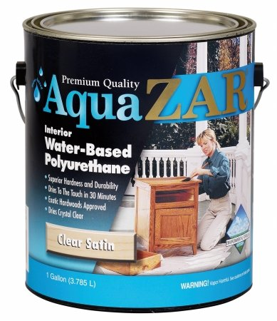 (Aqua Zar 32513 1 Gallon Clear Satin Aqua Zar Water Based Polyurethane)