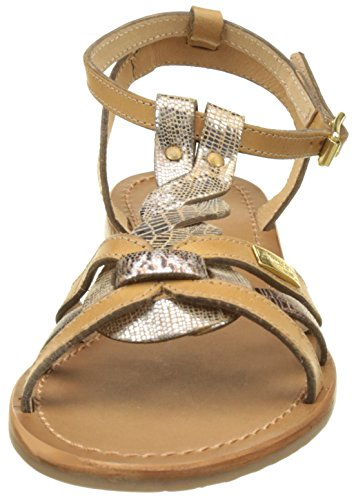 Belarbi Hams miel De Mujer Les Sandalias Par Amarillo Con Tropéziennes Tobillo bronze Correa Para M taxnfwHpq