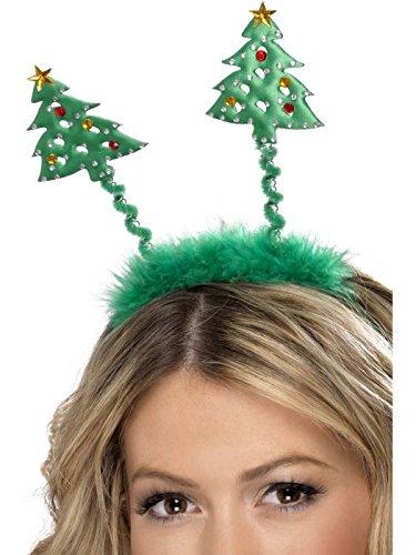 - Christmas Tree Boppers, Green, On Headband
