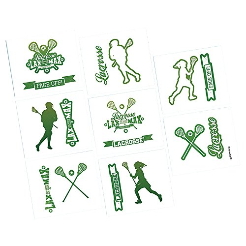 amscan Lacrosse Tattoos -