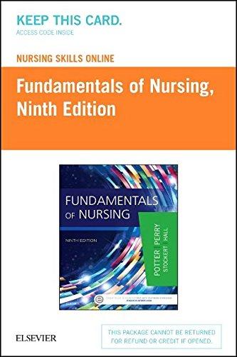 Nursing Skills Online Version 3 0 For Fundamentals Of Nursing  Access Code   9E
