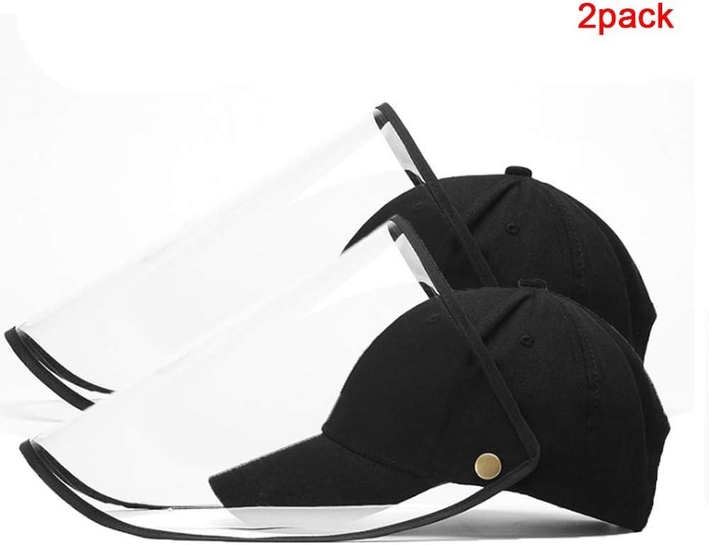 FABSELLER Gorra de b/éisbol con Cubierta de protecci/ón Facial Sombrero Protector con protecci/ón Facial Cubierta de PVC extra/íble Sombrero a Prueba de Polvo a Prueba de Viento para Hombres Mujeres