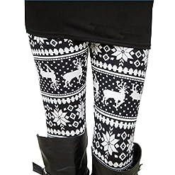 Ensasa Womens Autumn Winter Snowflake Graphic Printed Stretchy Leggings Pants 51oN2fWWMeL