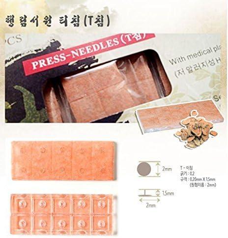 Haeng Lim Ear Press SeedsT Type Needle 50EA Diet, Weight Loss, Stop Smoking, Back Pain, Headache, Stress, Depression, Insomnia 2