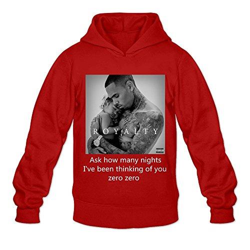 Jacket French Kiss (Men's Chris Brown Royalty Zero Geek Hoodies Sweatshirt Size L US Red)