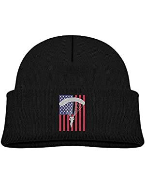 Fashion American Parachuting Skydiving USA Flag Printed Newborn Baby Winter Hat Beanie