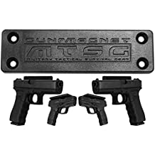 Gun Magnet Mount & Holster for Vehicle, Desk, Home, Concealed Holder for Handgun or Rifle. Rubber Coated Rated for 35lbs