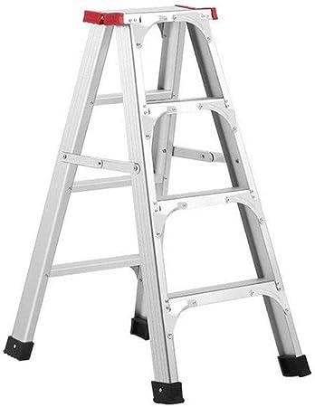 BCLGCF Escalera De Escalera Plegable Escalera De Aluminio, Plataforma Portátil Liviana Que Ahorra Espacio Escalera Multiusos con Plataforma De Trabajo Superior, Peso del Cojinete 150 Kg,Four: Amazon.es: Hogar