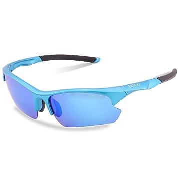 DUCO 6213 Gafas de Sol Polarizadas Deportivas para Golf Pesca o Ciclismo Marco TR90 Irrompible 100