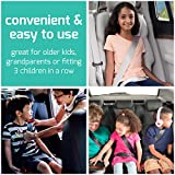 mifold grab-and-go Car Booster Seat, Slate Grey – Compact and Portable Booster for Travel, Carpooling and More – Foldable Child Booster Seat Fits into Glove Box and Backpack