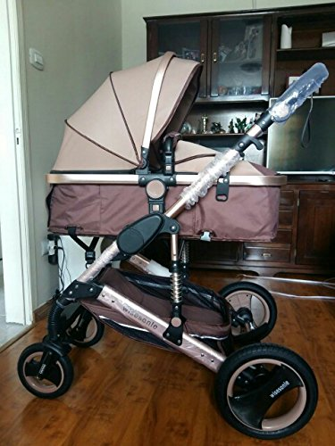 0--36 months baby stroller 2 in 1 stroller lie or damping folding light weight Two-way use four seasons (1) by wisesonle (Image #7)