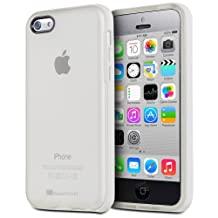 GreatShield Guardian Series Frosted TPU + PC Bumper Frame Protective Skin Back Case Cover for Apple iPhone 5C (White)