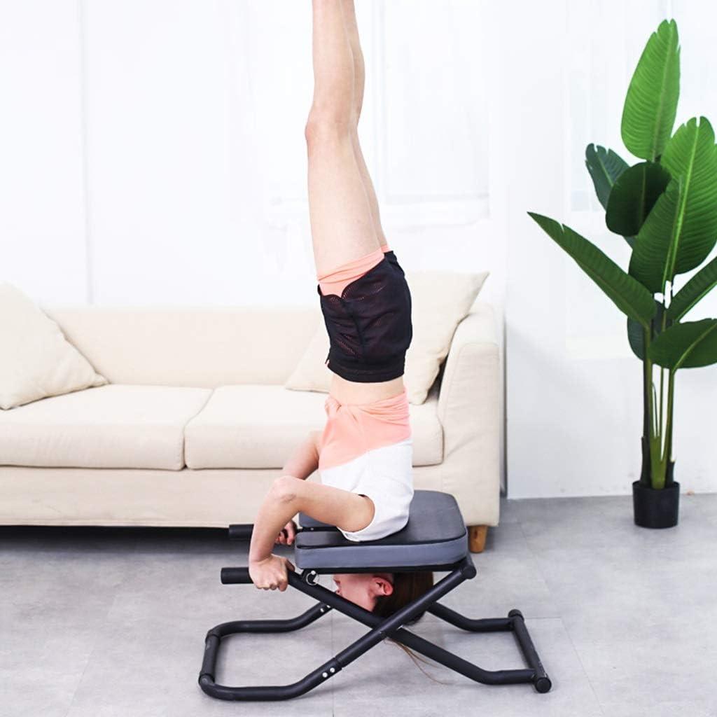 Shoulderstand Handstand Gym Alleviare laffaticamento inversione Panchina Headstander per Allenamento Fitness ZHEN GUO Aggiornamento Yoga Headstand Bench Stand Yoga Sedia per Famiglia