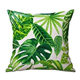 Qinlee Luxury Cushion Covers Throw Pillow Case Plant Printing Home Sofa Office Decorative 45x45cm