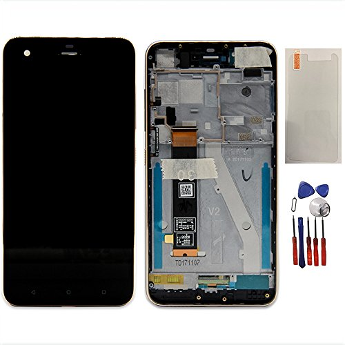 Assembly for HTC Desire 10 Pro D10W D10i 5.5 inch LCD Display Screen Touch Digitizer Replacement + Frame Black