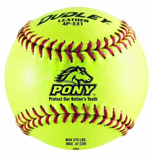 Dudley 11'' PONY Thunder Heat Leather Fastpitch Softball - pack of 12 by Spalding