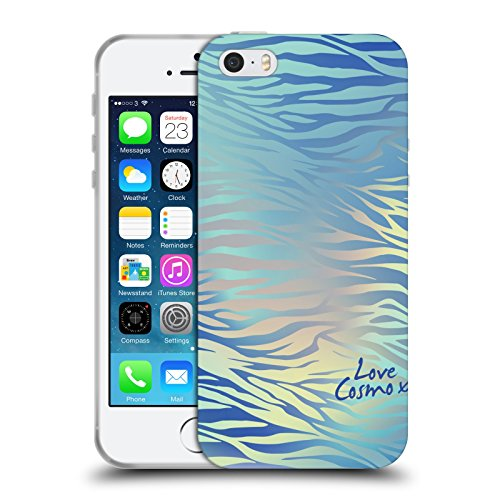 Official Cosmopolitan Shiny Zebra Iridescence Soft Gel Case for Apple iPhone 5 / 5s / SE
