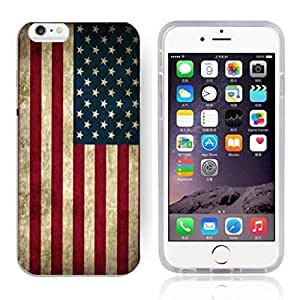 """America Flag Design Pattern HD Durable Hard Plastic Case Cover for iphone 6(4.7"""") hjbrhga1544"""