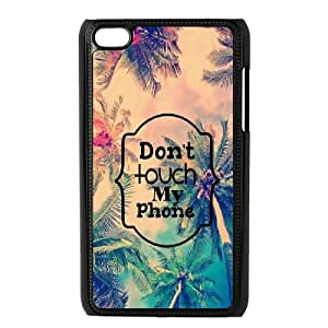 Diy Don't touch my phone Phone Case, DIY Hard Back Cover Case for iPod Touch 4 Don't touch my phone