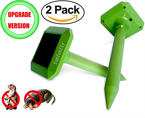 funfunfly-2-pack-upgrade-version-solar-mole-repeller-ultrasonic-repel-mole-voles-gopher-mice-and-rat