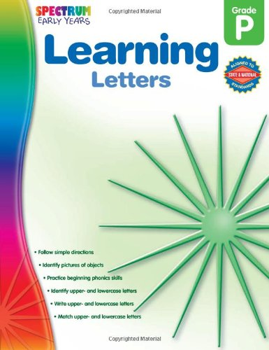 Learning Letters, Grade PK (Early Years)