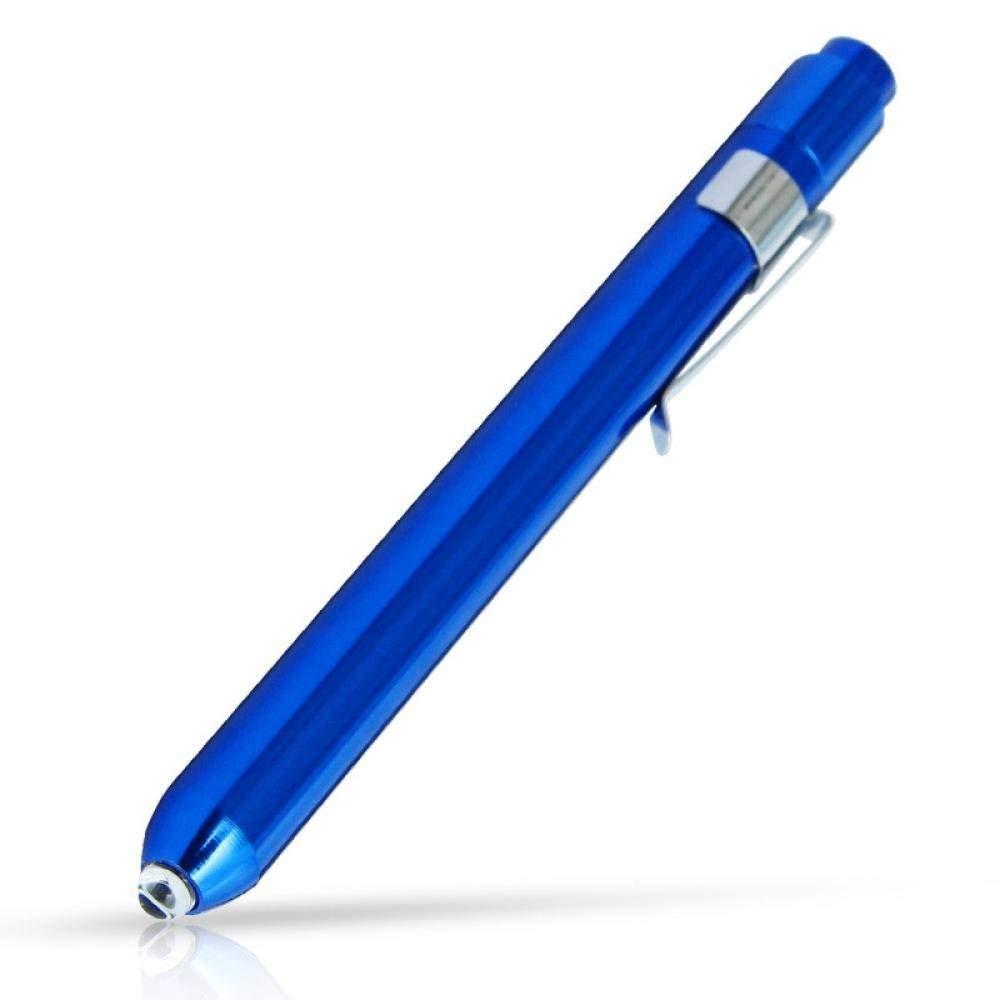 Lampe de poche, premiers secours médicaux lumière de stylo LED lampe de poche torche médecin infirmière EMT d'urgence torche électrique (bleu) durable et pratique
