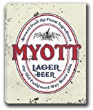 """MYOTT Lager Beer Stretched Canvas Sign 24"""" x 30"""""""
