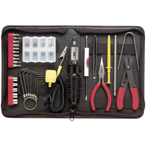 1 - Professional 36-Piece Computer Tool Kit, Fully demagnetized tools protect computer's hard drive or magnetic media from damage, Each tool stores in custom designed case, F8E066 ()